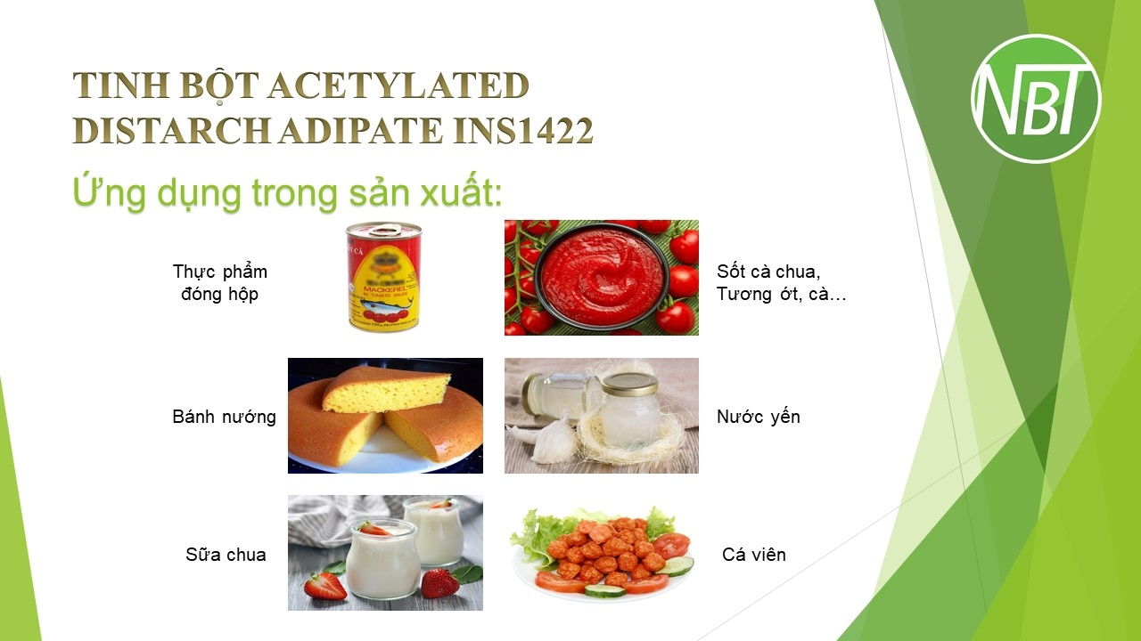 Tinh bột Acetylated Distarch Adipate INS1422